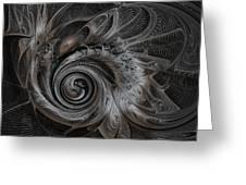 Silver Spiral Greeting Card