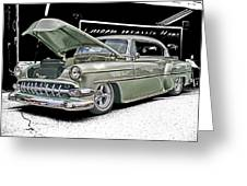Silver Street Rod Hdr Greeting Card