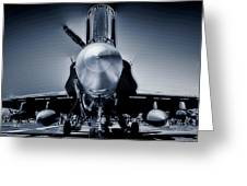Silver Strikefighter Greeting Card