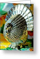 Silver Turkey Right Greeting Card