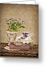 Simple Pleasures Greeting Card by Cheryl Davis
