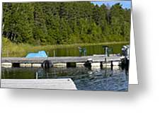 Simple Waterslide On Portage Lake Greeting Card