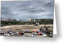 Simply North Beach From Tenby Harbour Greeting Card