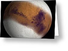 Simulated View Of Mars Greeting Card
