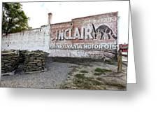 Sinclair Motor Oil Greeting Card