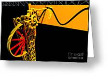 Sine Wave Machine Landscape 1 Greeting Card