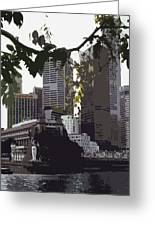 Singapore's Merlion Greeting Card by Juergen Weiss