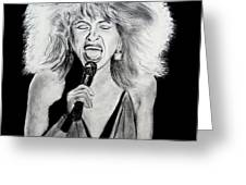 Singer And Actress Tina Turner  Greeting Card