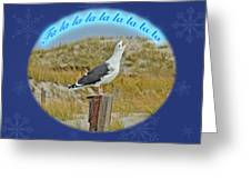 Singing Seagull Christmas Card Greeting Card