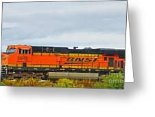 Single Bnsf Engine Greeting Card