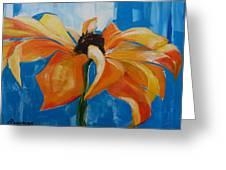Single Cornflower Greeting Card