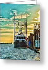 Single Fish Boat Hdr Greeting Card