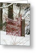 Single Red Gate Greeting Card