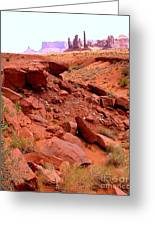 Sinkhole In Monument Valley Greeting Card