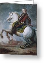 Sir Jeffrey Amherst Greeting Card by Sir Joshua Reynolds
