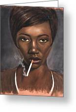 Sister With Cigarette Greeting Card