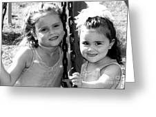 Sisters Portrait Greeting Card