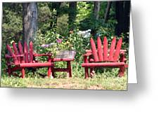 Sit For Awhile Greeting Card