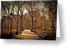 Sitting In The Park Greeting Card by Kathy Jennings