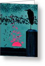 Sitting On The Dock By The Bay Greeting Card