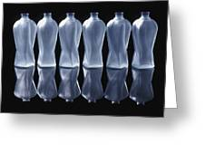 Six Glass Bottles Greeting Card