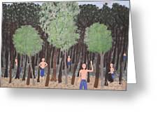 Six Little Cherokee Greeting Card