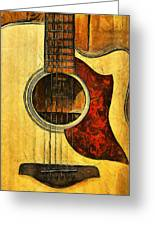 Six-string Acoustic Viii Greeting Card