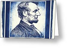 Sixteenth President Blue Greeting Card
