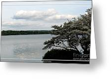 Skaneateles Lake In Ny Finger Lakes Water Color Effect Greeting Card