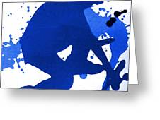 Skateboarder Blue Greeting Card