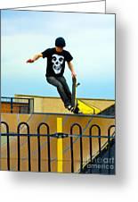 Skateboarding Xi Greeting Card