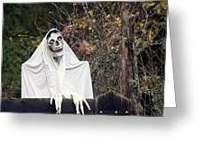 Skeleton Ghost Greeting Card