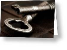 Skeleton Keys Still Life Greeting Card by Tom Mc Nemar