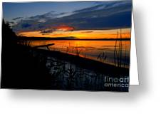 Skeloton Lake Sunset Hdr Greeting Card