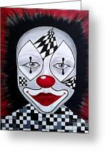 Skeptical...clown Greeting Card