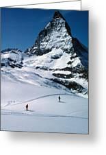 Skiers At The Matterhorn Greeting Card