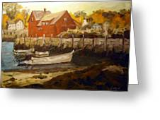 Skiffs By The Motif Greeting Card