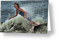 Skimmer Girl 1 Greeting Card