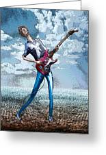 Skinny Guitar Greeting Card