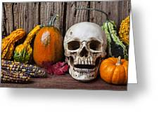 Skull And Gourds Greeting Card