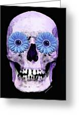 Skull Art - Day Of The Dead 3 Greeting Card