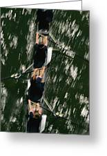 Skullers On The Potomac River In D.c Greeting Card