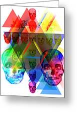 Skulls Illuminate Skulls Greeting Card by Kenal Louis