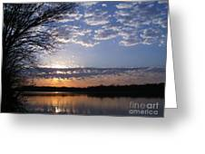 Sky At Dusk Greeting Card