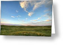 Sky At Sunset, Grasslands National Greeting Card