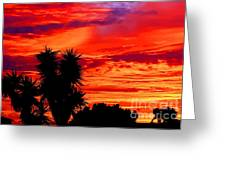 Morro Bay California Sky Fire Greeting Card