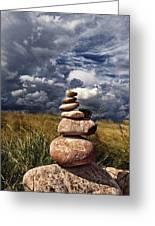 Sky Of Stone Greeting Card by Gabriel Calahorra