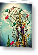 Sky Wheel Carnival Ride Greeting Card