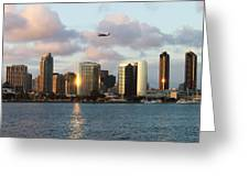 Skyline From Coronado Greeting Card