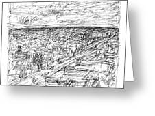Skyline Sketch Greeting Card by Elizabeth Carrozza